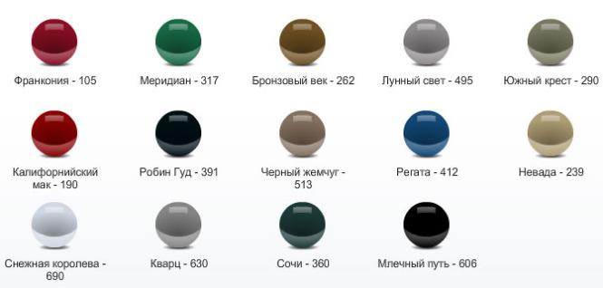 Цветовая гамма новая lada kalina универсал